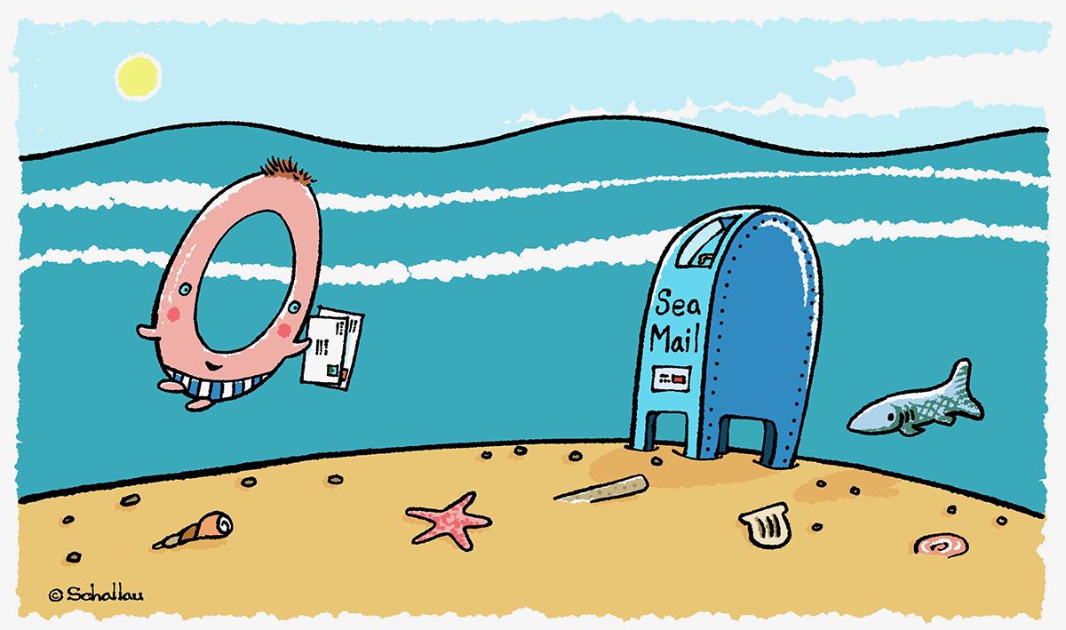 zero sea creature mail invitation letters digital ipad1200.jpg