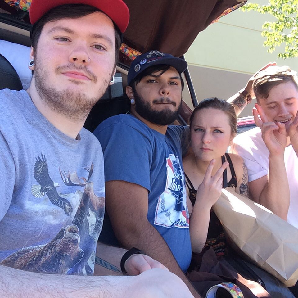 Our stop at the Portland Fred Meyer before beginning our drive to Chico, CA. Taken with my new Frozen Selfie Stick