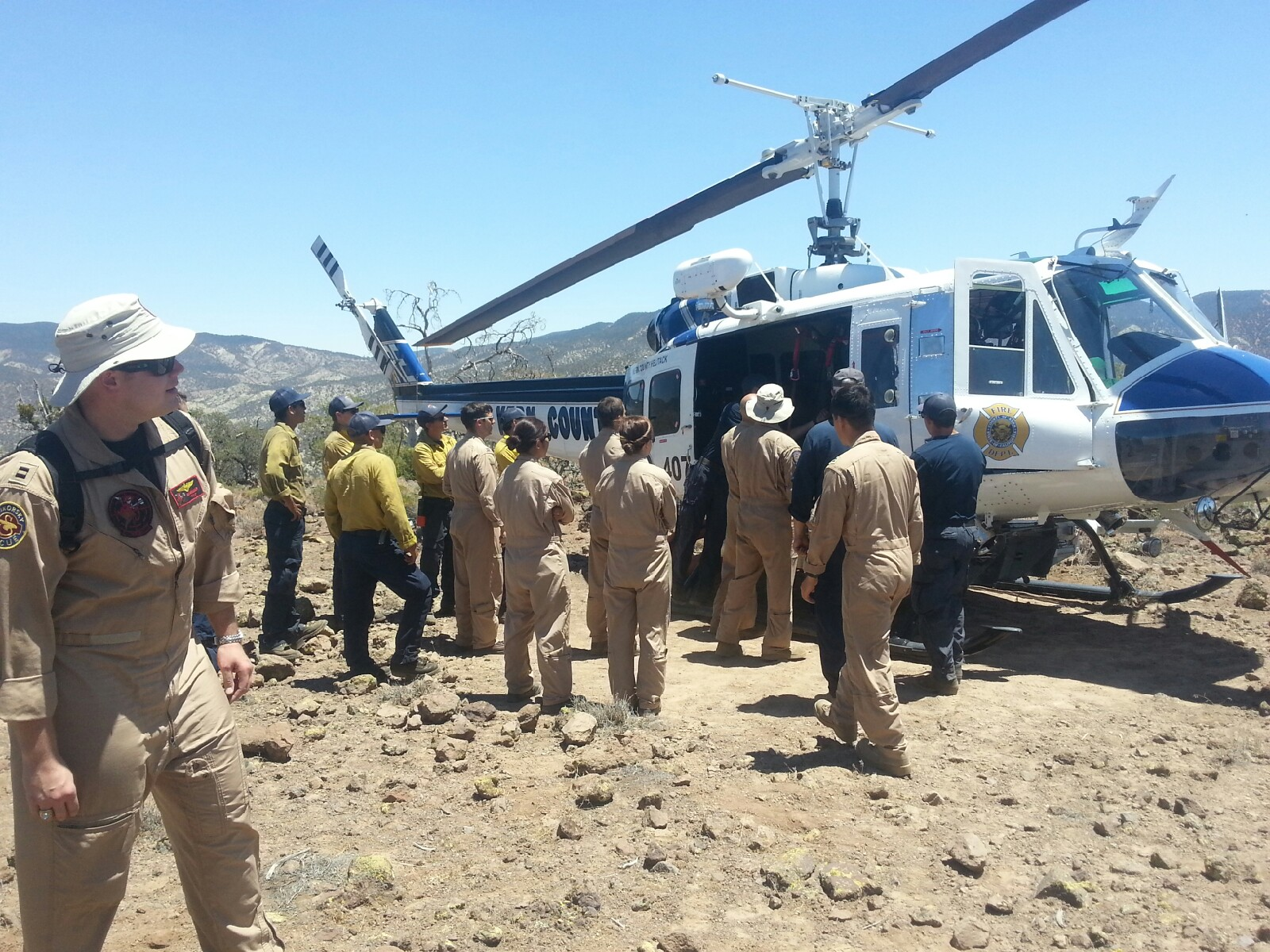 U.S. Navy VX-31 Search & Rescue and Kern County Fire Helicopter 407 partaking in signal training conducted by our Chief Instructor.