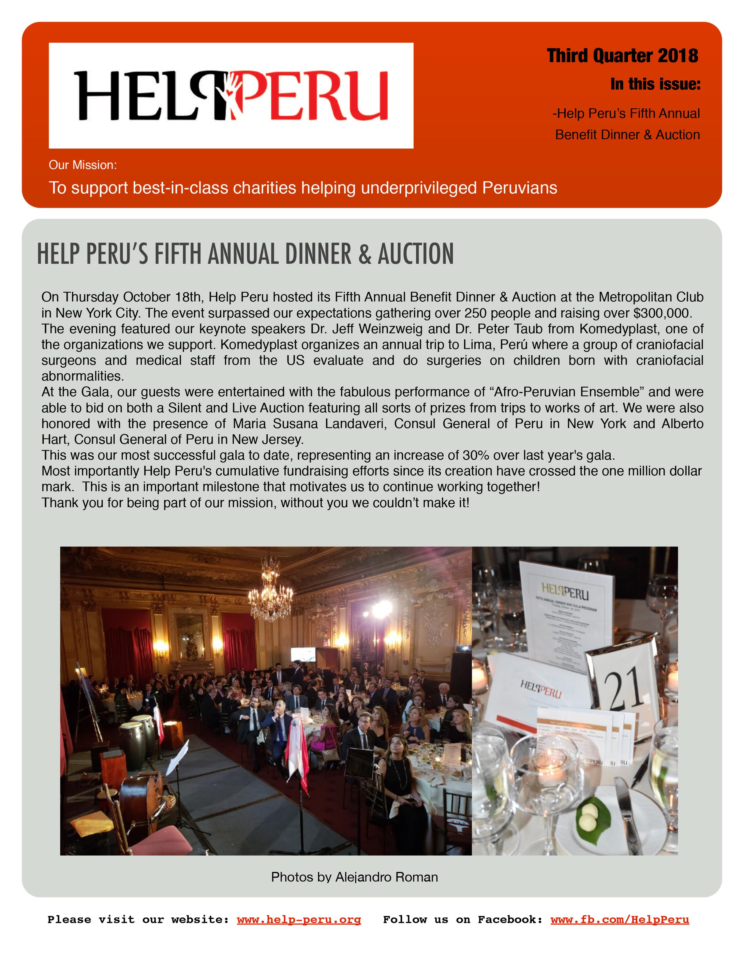 Help Peru Bulletin 3Q 2018