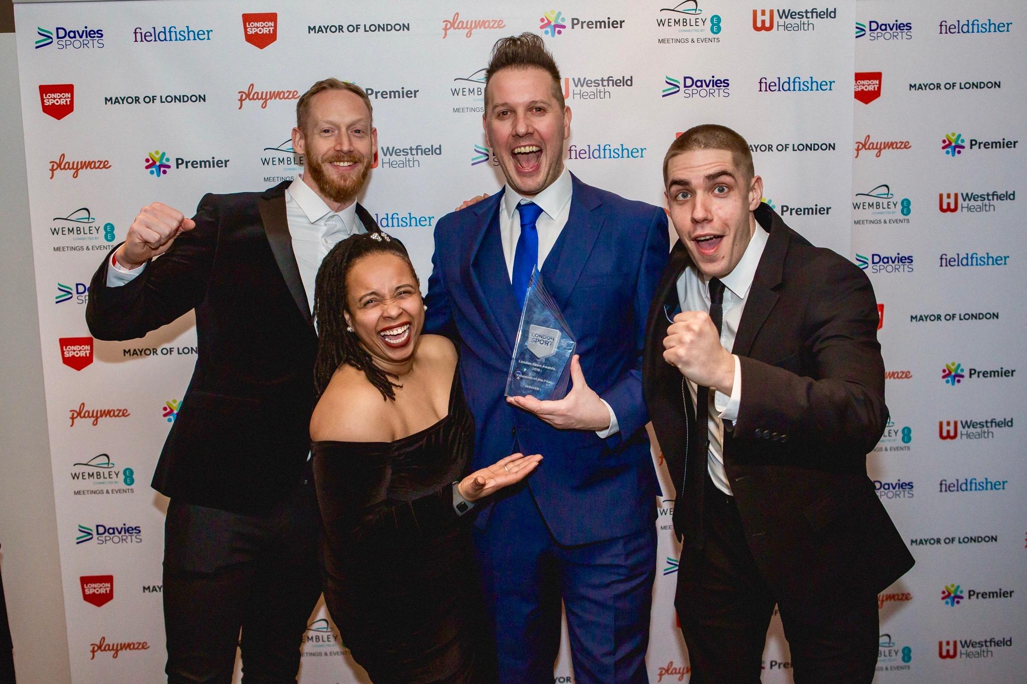 Winning the Volunteer of the Year award