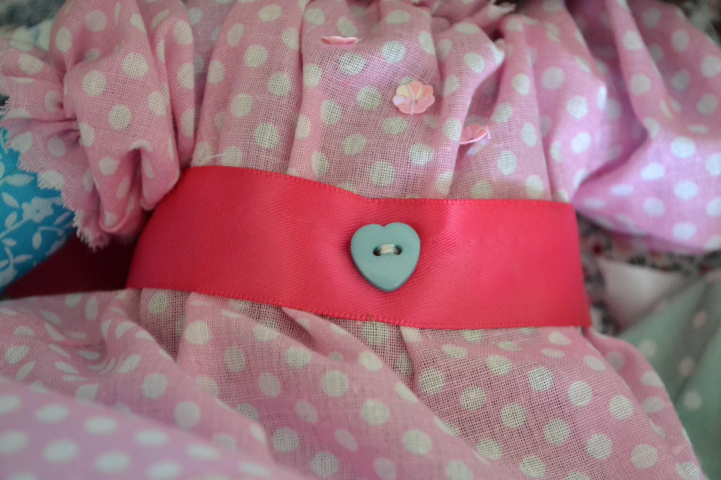 Detail on Zoe's dress
