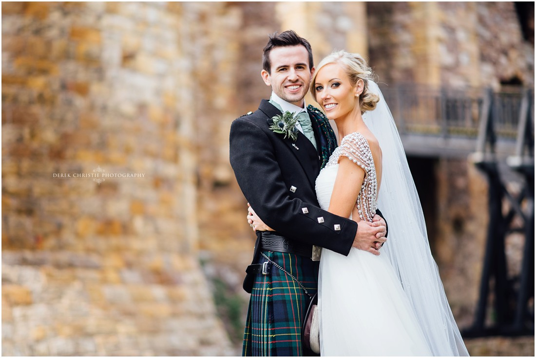 Ellie & Paul On Their Wedding Day at Archerfield and Dirleton Castle.