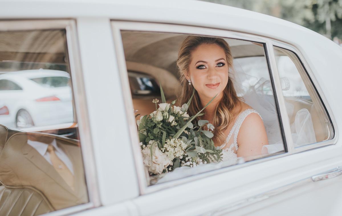 Eskmills wedding Fhern Arrives In The Car.jpg