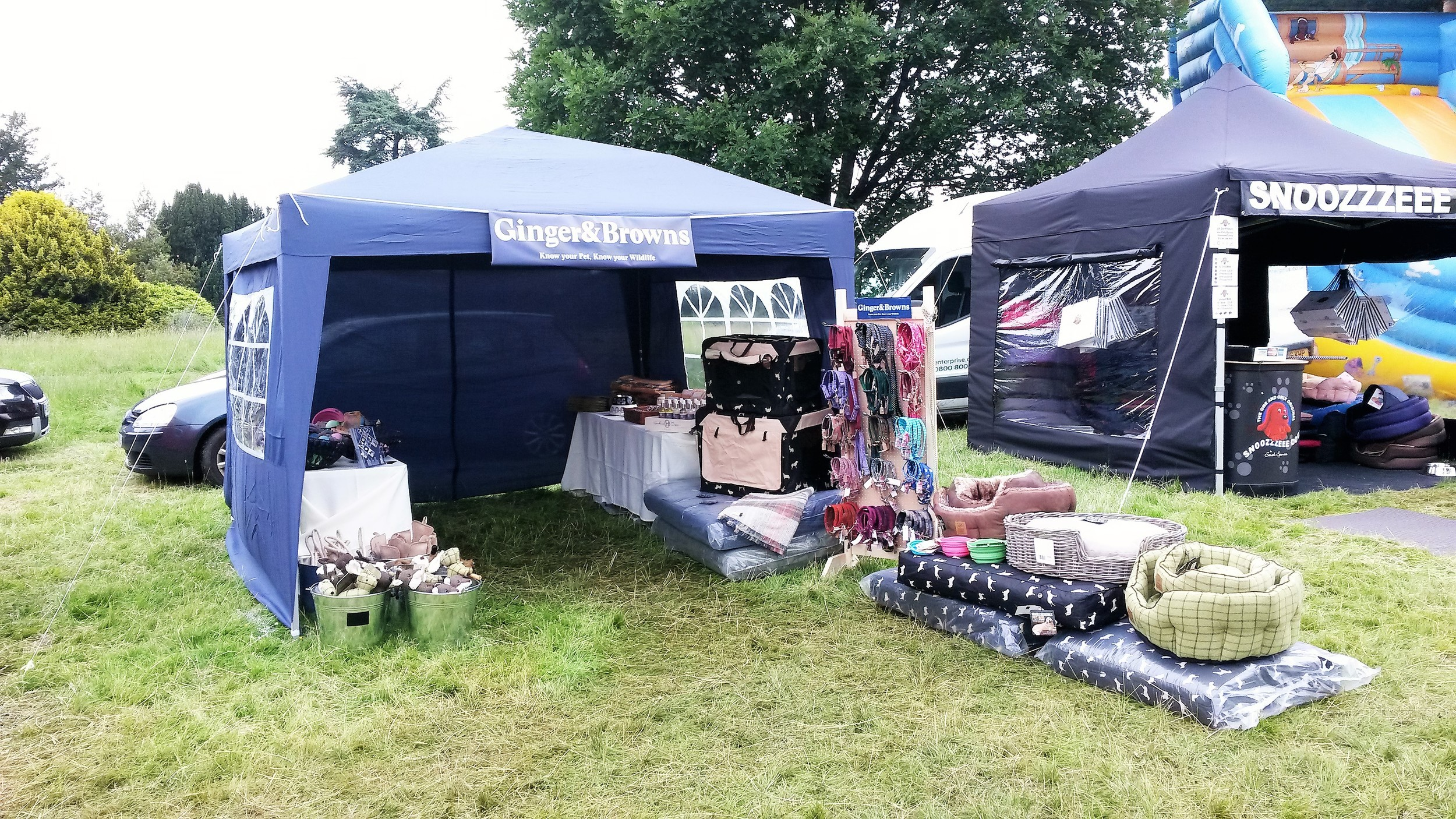 Ginger&Browns Stall ready for DogFest in Cheshire