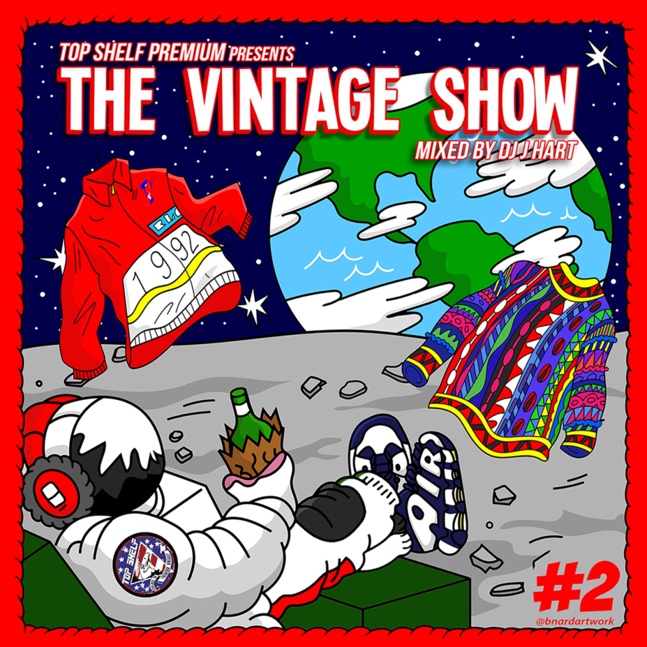 "Cover art for TopShelf Premium and DJ Jhart's ""The Vintage Show Vol. 2"""