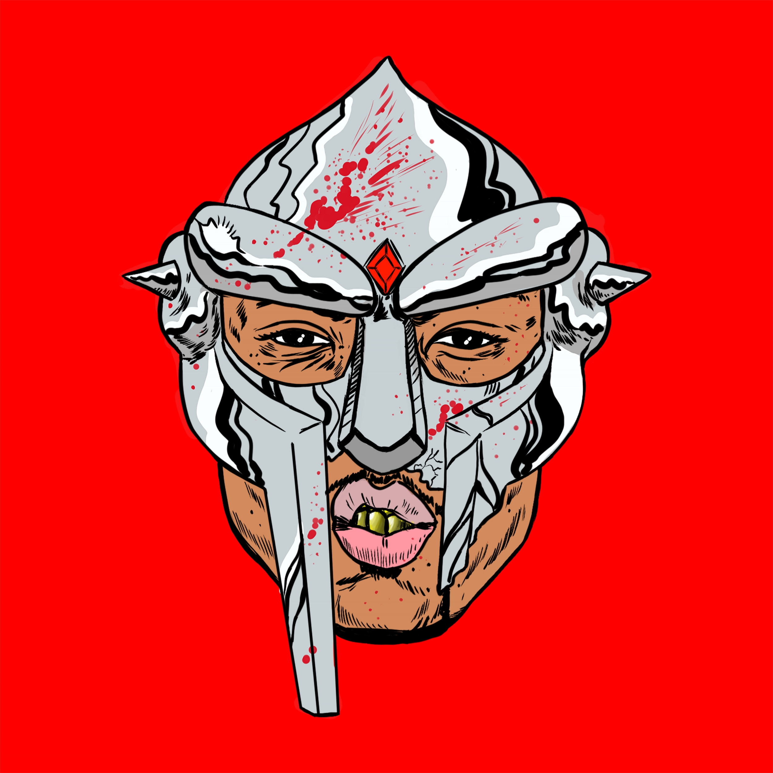 "Cover Art  for Westside Gunn & MF DOOM single ""Gorilla Monsoon"""