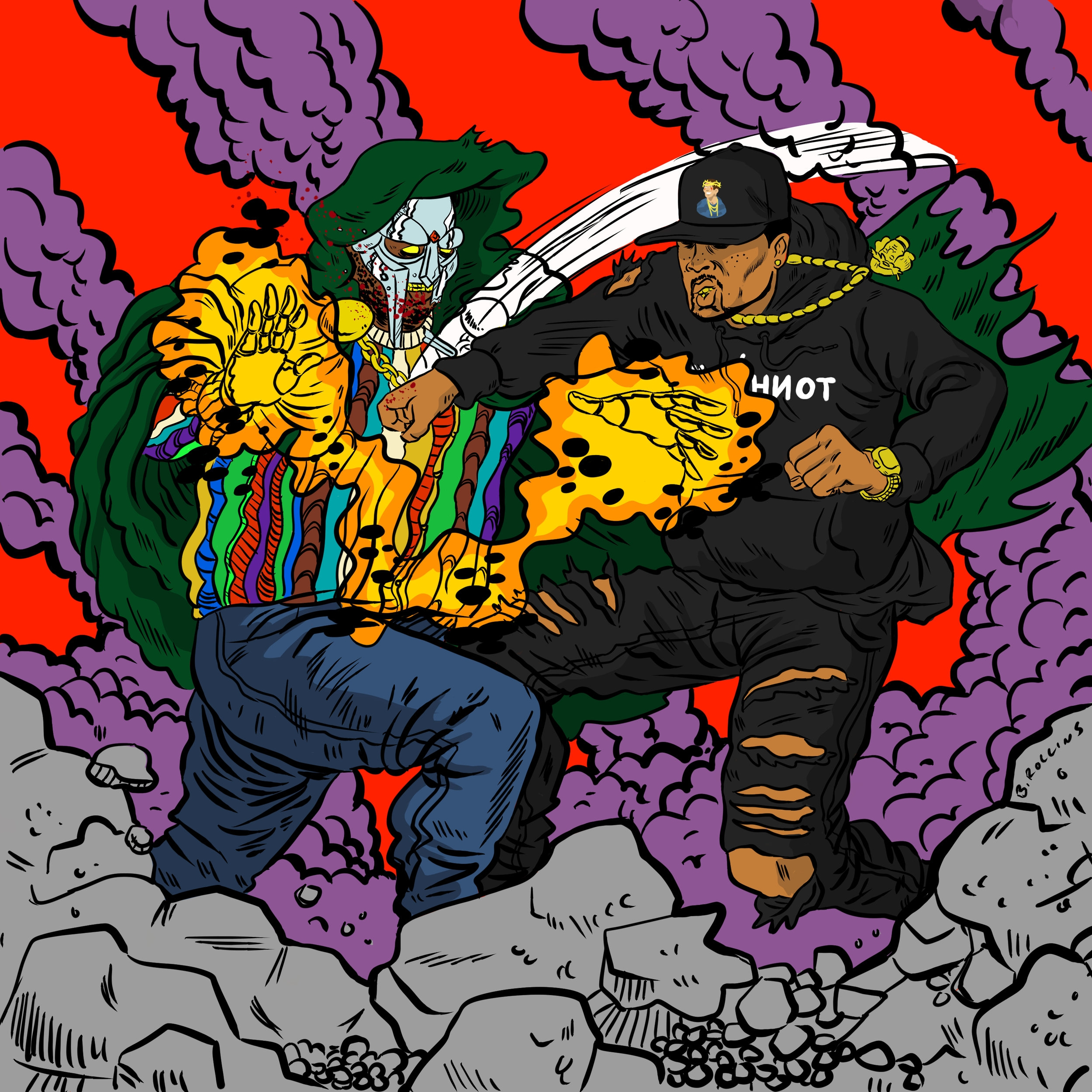 "Cover Art for Westside Gunn & MF DOOM single ""2 Stings"""