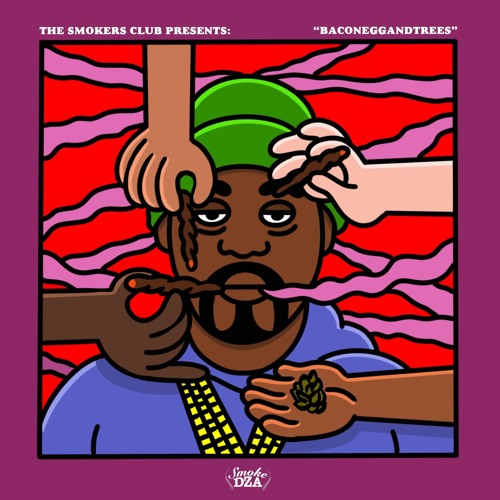 "Cover Art for Smoke DZA's ""Baconeggsandcheese"" EP"