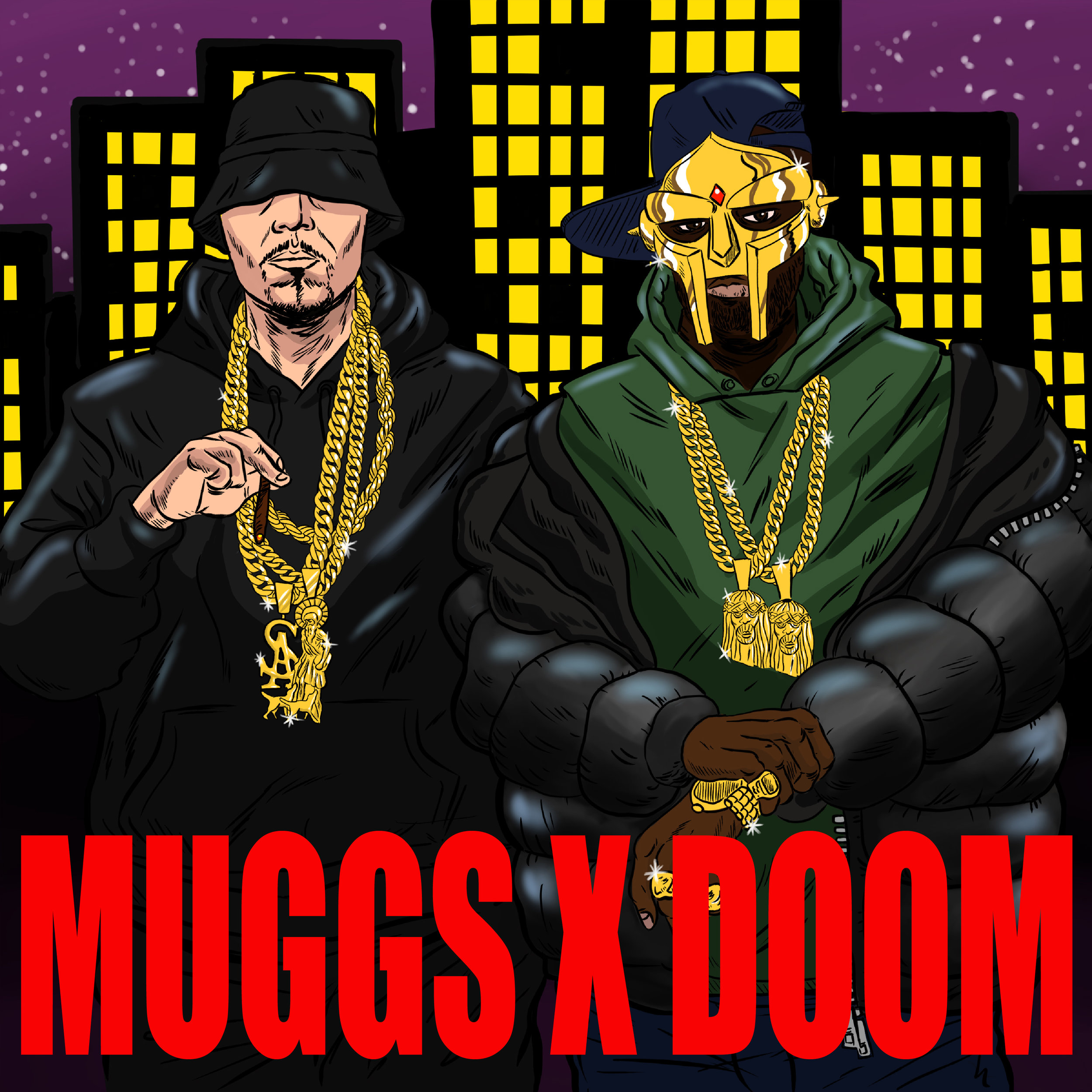 "Cover Art for DJ Muggs & MF DOOM's ""DEATHWISH"""