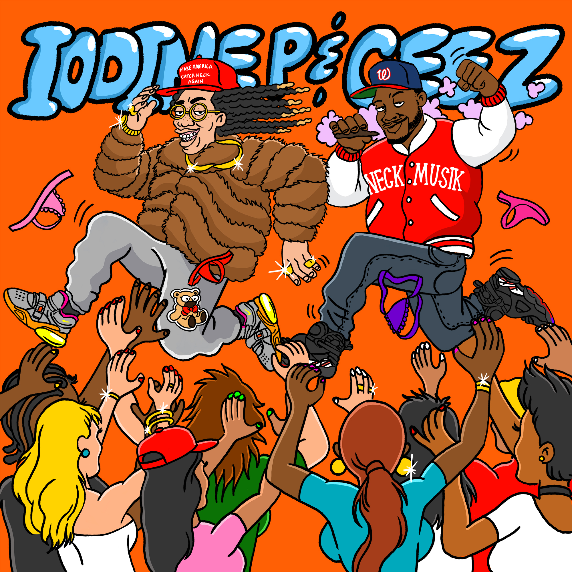 "Cover Art for Iodine P & Ceez ""Several Thousand Bitches Later"""