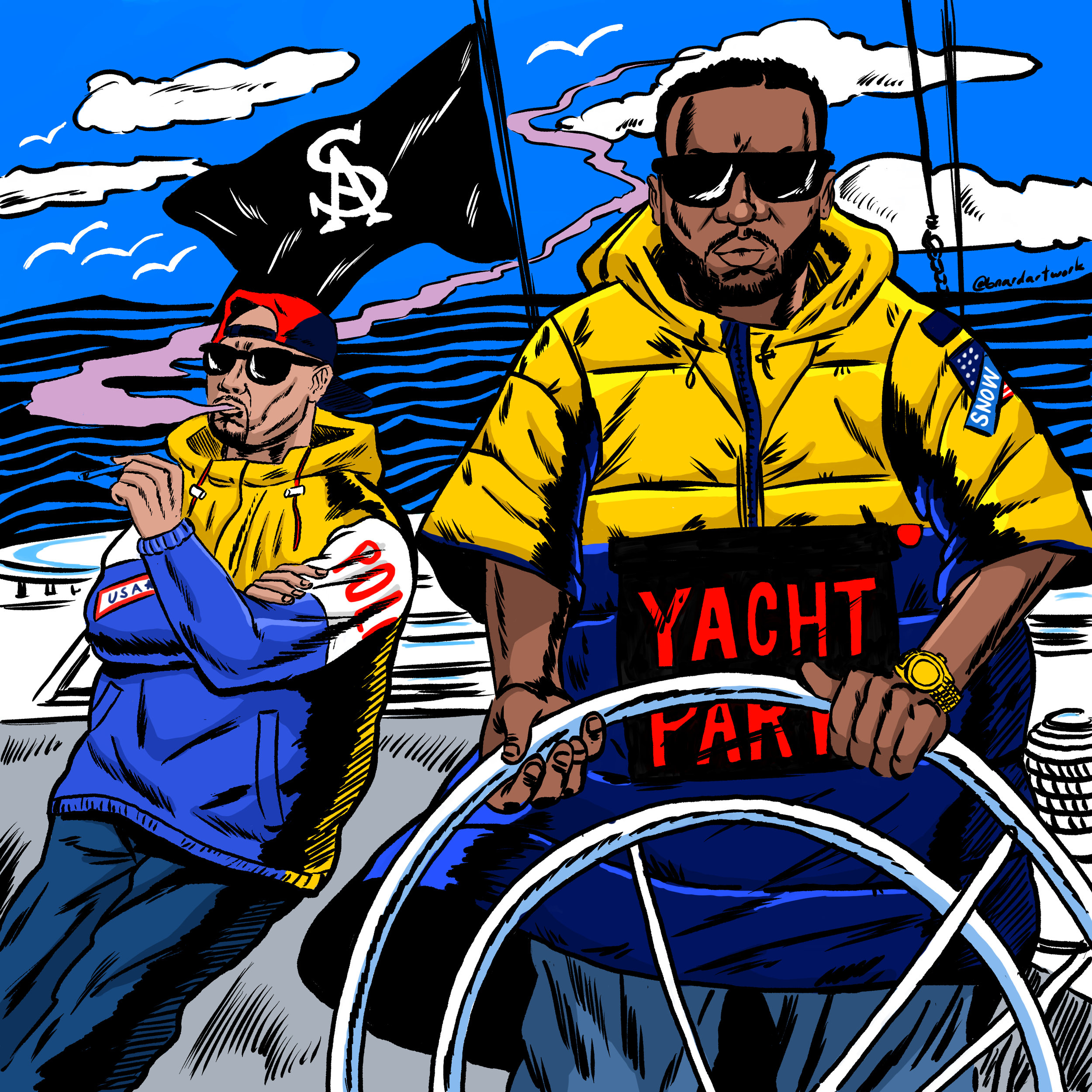 "Cover Art for DJ MUGGS & Raekwon ""Yacht Party"" single"