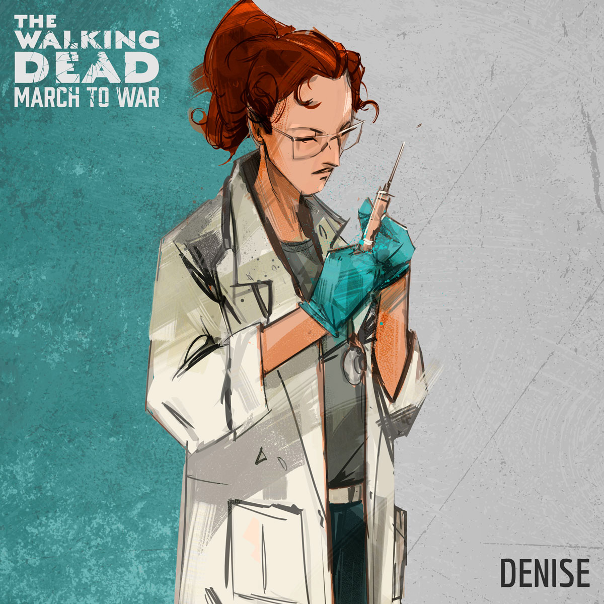 Denise - A multitalented doctor who specializes in protecting survivors via reduced damage and improved healing.