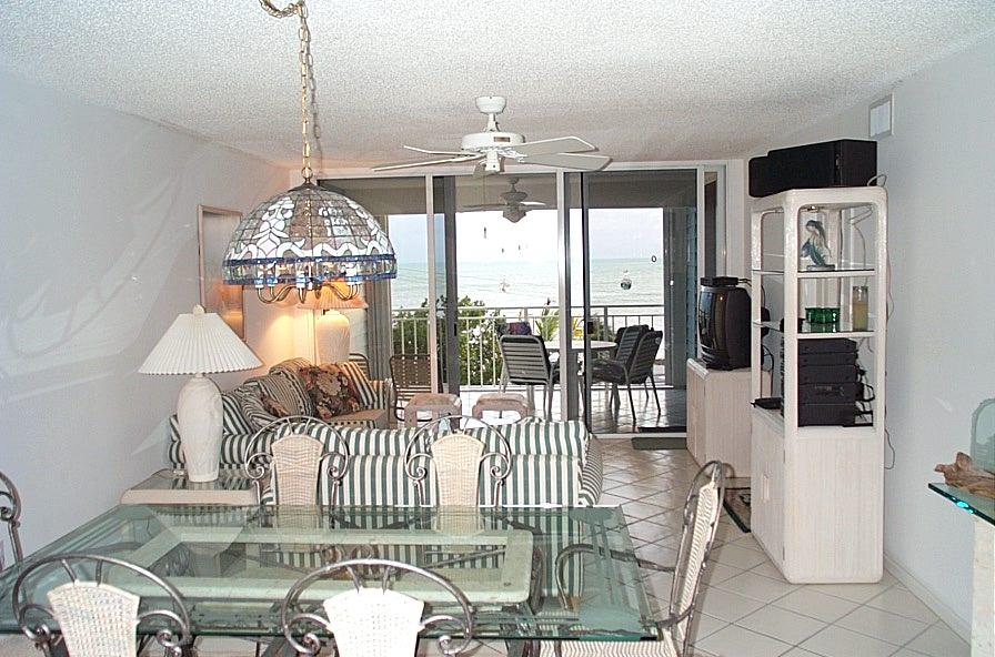 La Brisa Unit 301S Living Room Looking at Veranda
