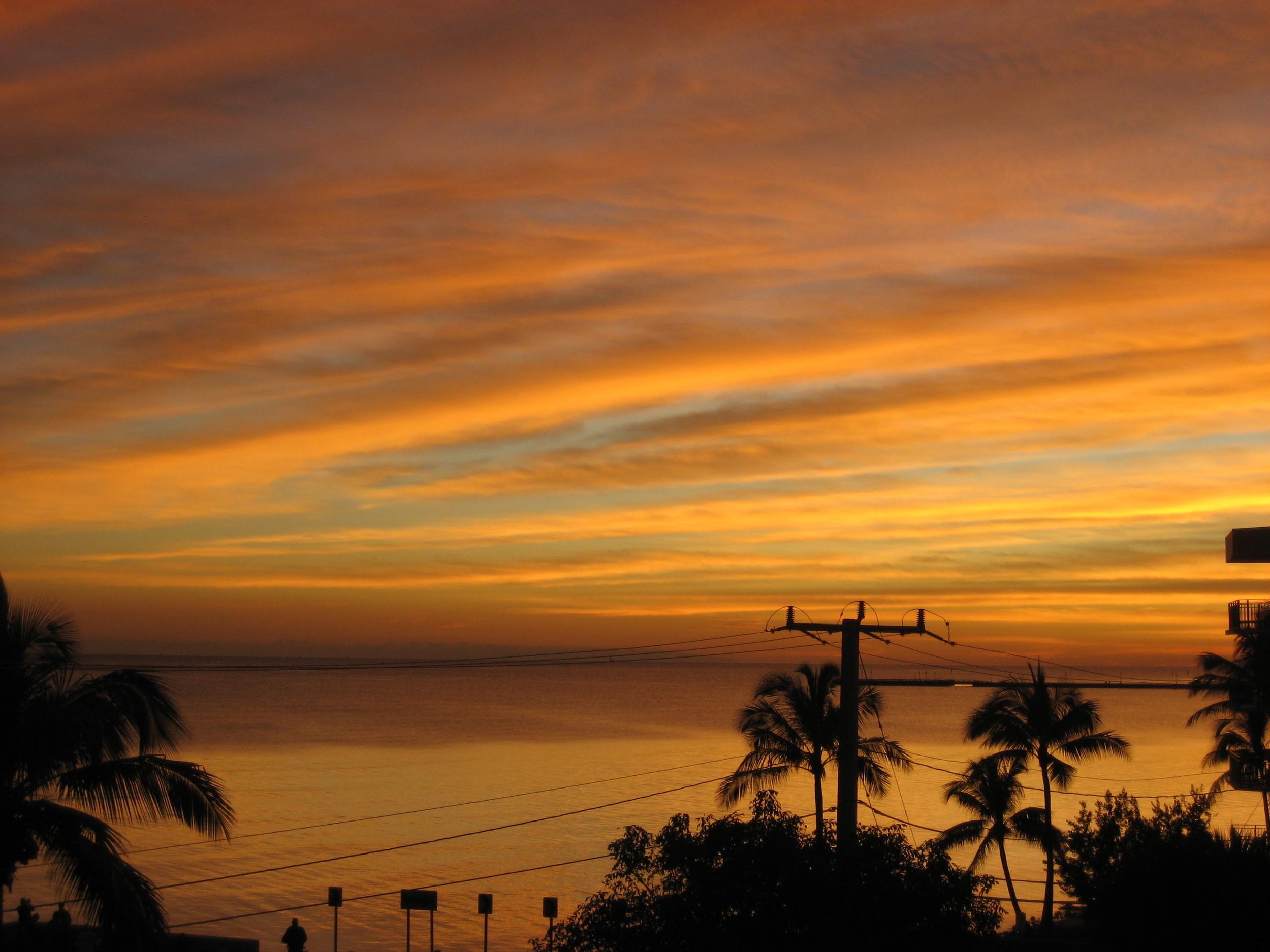 La Brisa Unit 301S Sunset From Veranda