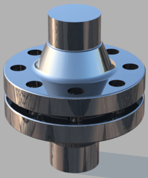 """Pretty basic flanged pipe - Made in AutoDesk Fusion 360 - """"Plaza"""" environment preset"""