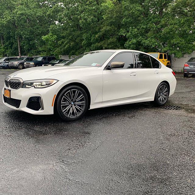 New BMW 3 series gets @xpel prime HP black window film installed  #bmw #3series #white #black #staycool #xpel #xpeltech #summer #german #savage #savagenewyork #savageli #savagelongisland #staysavage #savagelife #savageliny #savageforlife #windowtint #savagenotaverage #30plusyearsinthegame #savageautosports