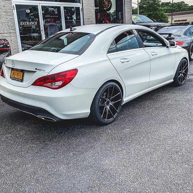 "Mercedes Benz with some new 19""  @nicheroadwheels targas and @continental_tire tires #savage #mercedes #benz #white #savageli #savagenewyork #savageliny #wheels #tires #summer #savageforlife #staysavage #savagelife #savagenotaverage #savagelongisland #savageaf #30plusyearsinthegame #savageautosports"