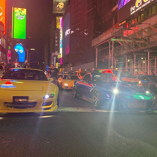 Fun night with my boys in NYC for 7's Day #nyc #timessquare #mazda #rotory #nissan #toyota #imports #carmeet #goodtimes #underground #savage