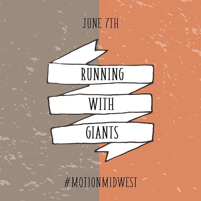 Running with Giants at MOTION Night is tomorrow night! June 7th... doors open at 6:30pm!⠀⠀ ⠀⠀ #motionmidwest⠀⠀ #summerofmotion⠀⠀ #runningwithgiantsatmotionnight⠀#games⠀⠀ #freefood⠀⠀ #donuts⠀⠀ #music⠀⠀ #party⠀⠀ #share⠀⠀ #bringafriend