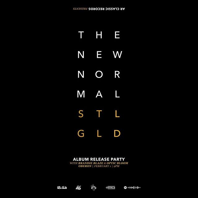 The new @stlgld album, 'The New Normal' drops Feb 1 and we're celebrating its release that same night at Oberon (@americanrep) in Harvard Sq with the homies @brandieblaze & @opticbloom + special guests. This is going to be a special night and I want everyone there to celebrate with us, so please pre-order your tickets now at @americanrep website and secure your spot. We sold out our last album release and had to turn a bunch of homies away at the door because they didn't have tickets. Please don't let that happen to you!! 🙏🏻#STLGLDTheNewNormal #STLGLD #ArcProducedThat #LiveAtOberon