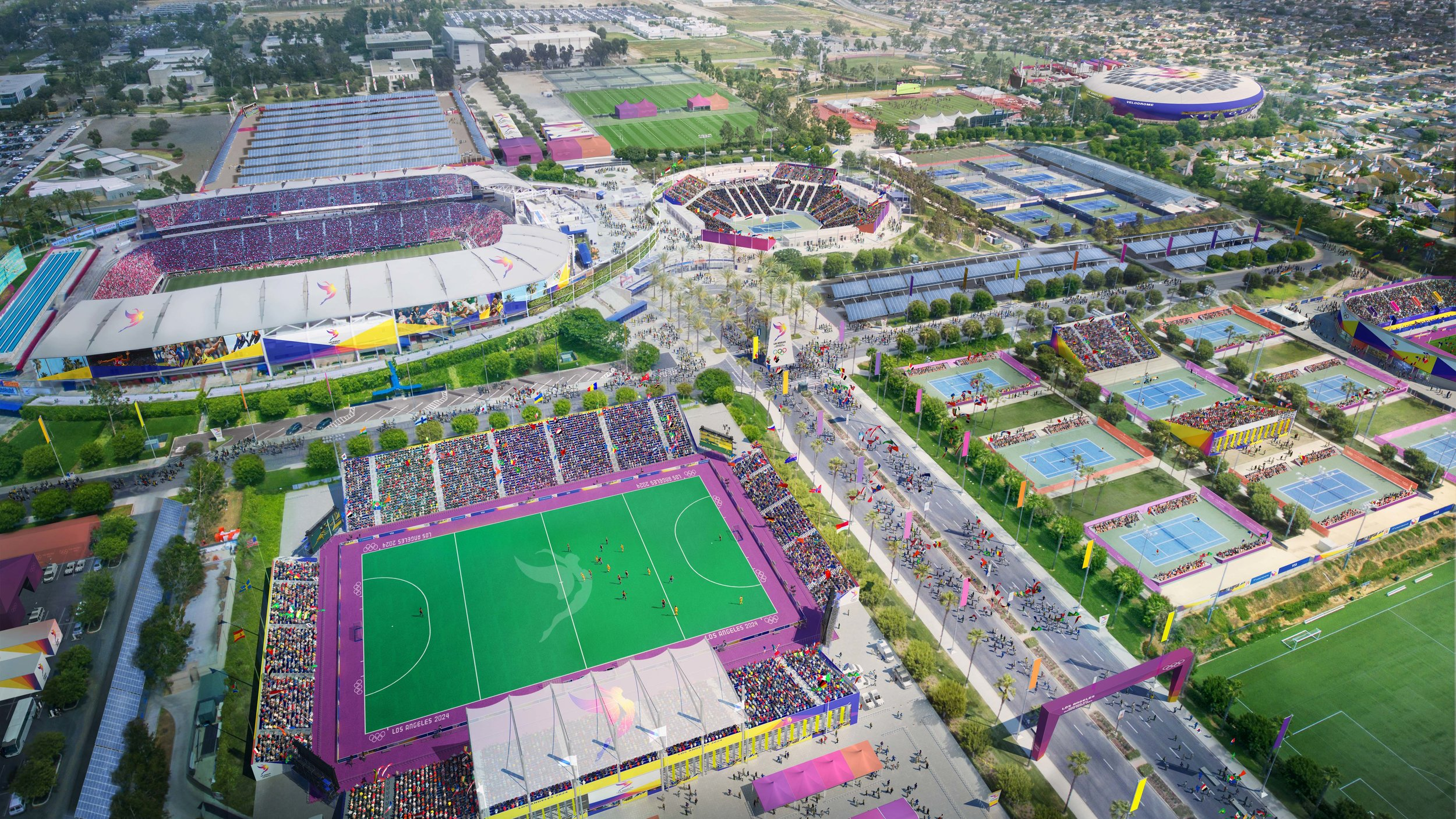 Los Angeles 2028 Olympic Bid | South Bay Sports Park. Designed while at AECOM