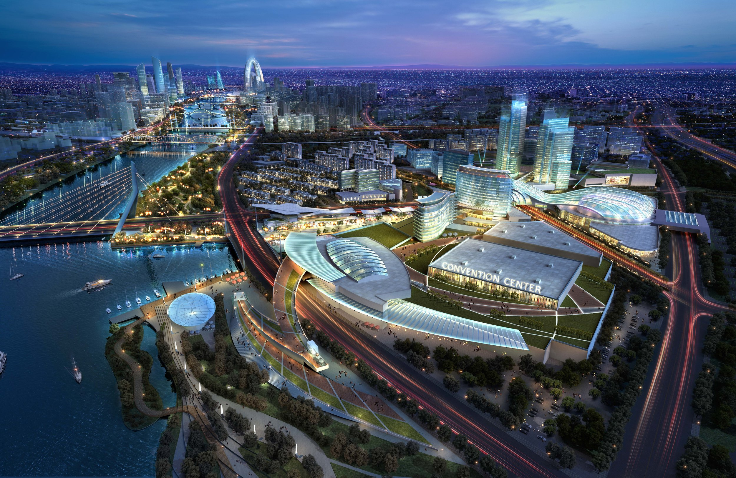 Tongzhou Entertainment District Master Plan | Beijing China. Designed while at AECOM.
