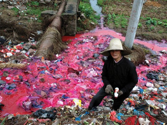 Dye Polluted River