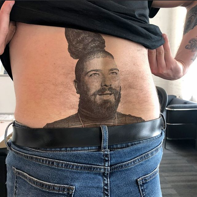 Because of instas no nudity policy I can't show you the @djkhaled on my inner thigh. Tattoos by @aleckleinfeld @bangbangnyc