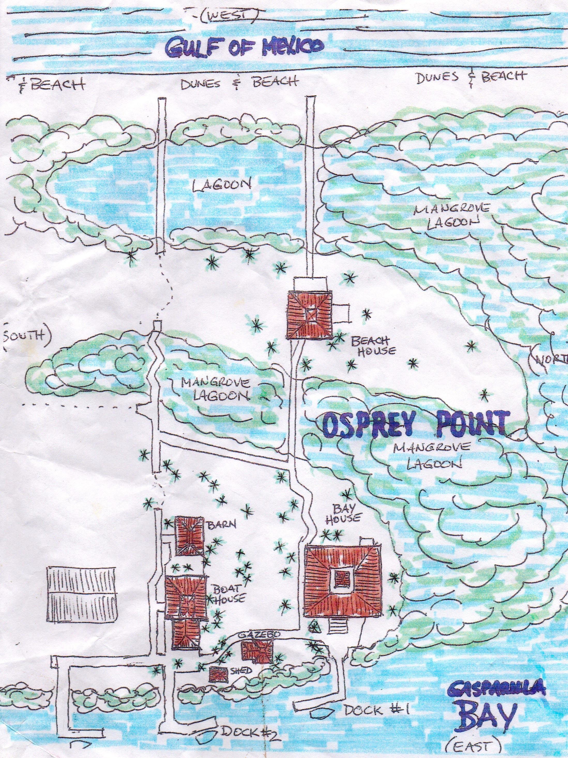 Map of Gasparilla Getaways