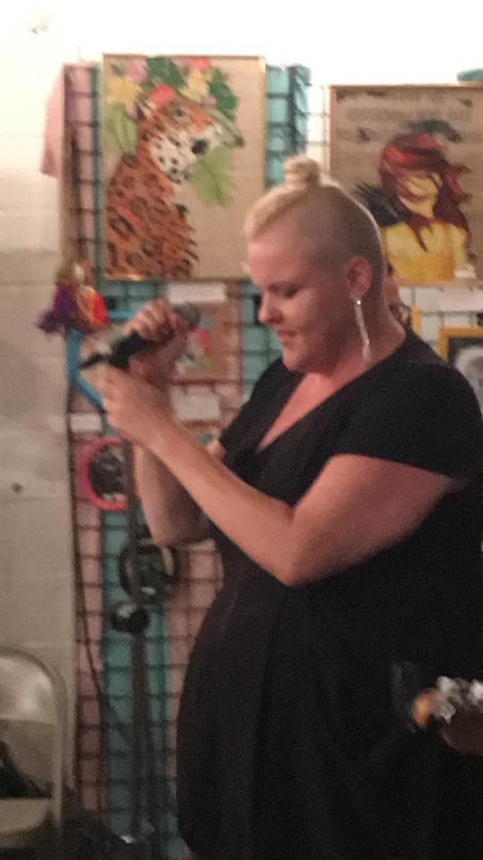 Dr. Cyn performing at Art for Equality. Picture taken by Terry DeMars.