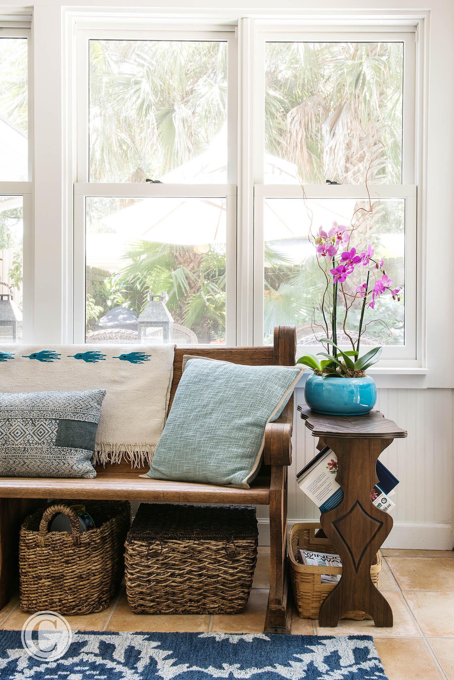 New windows, flooring, wainscoating, Atlantic Bch, FL Renovation, ©Agnes Lopez Photography