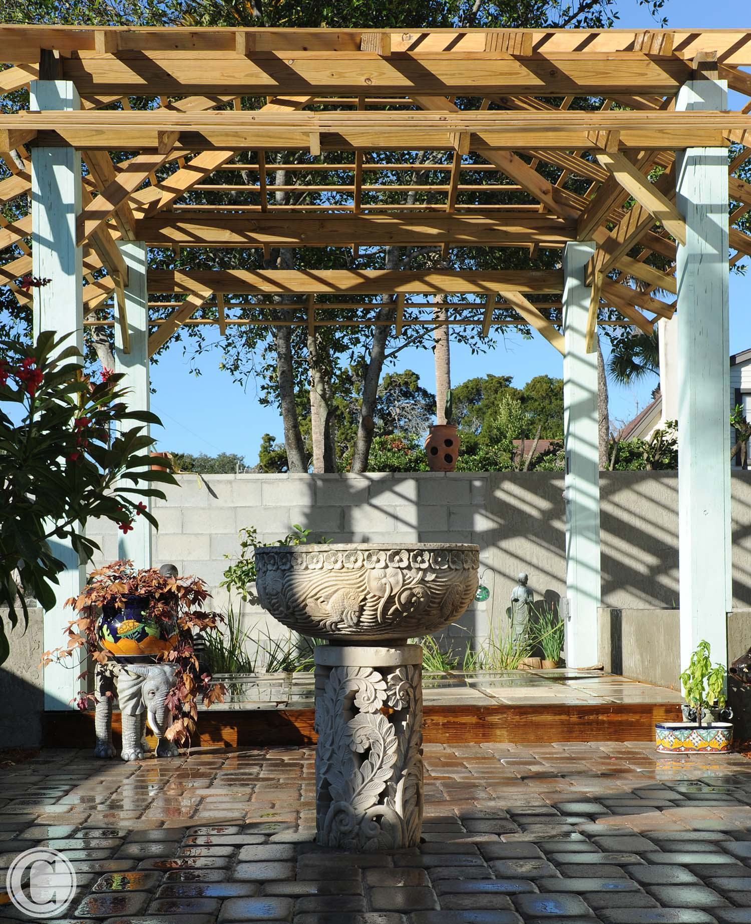 Original Balinese Fountain, ©Mark Sain Wilson Photography