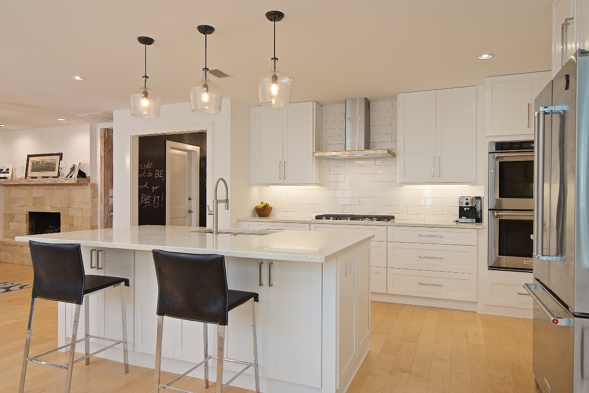 Kitchen Renovation, Coquina Fireplace, Chalkboard Walls, Atlantic Beach, FL | Cornelius Construction Company