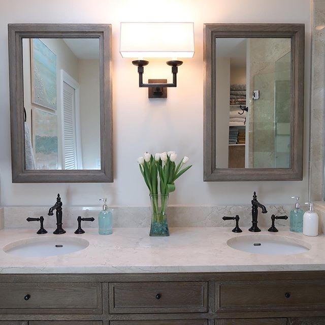 Recently completed bathroom renovation in an Oceanwalk home we originally built 20 years ago. It's still a great looking house! #contractor #bathroomdesign #bathroomremodel #ilovemyclients #atlanticbeachfl #jacksonville #jacksonvillebeach #neptunebeach
