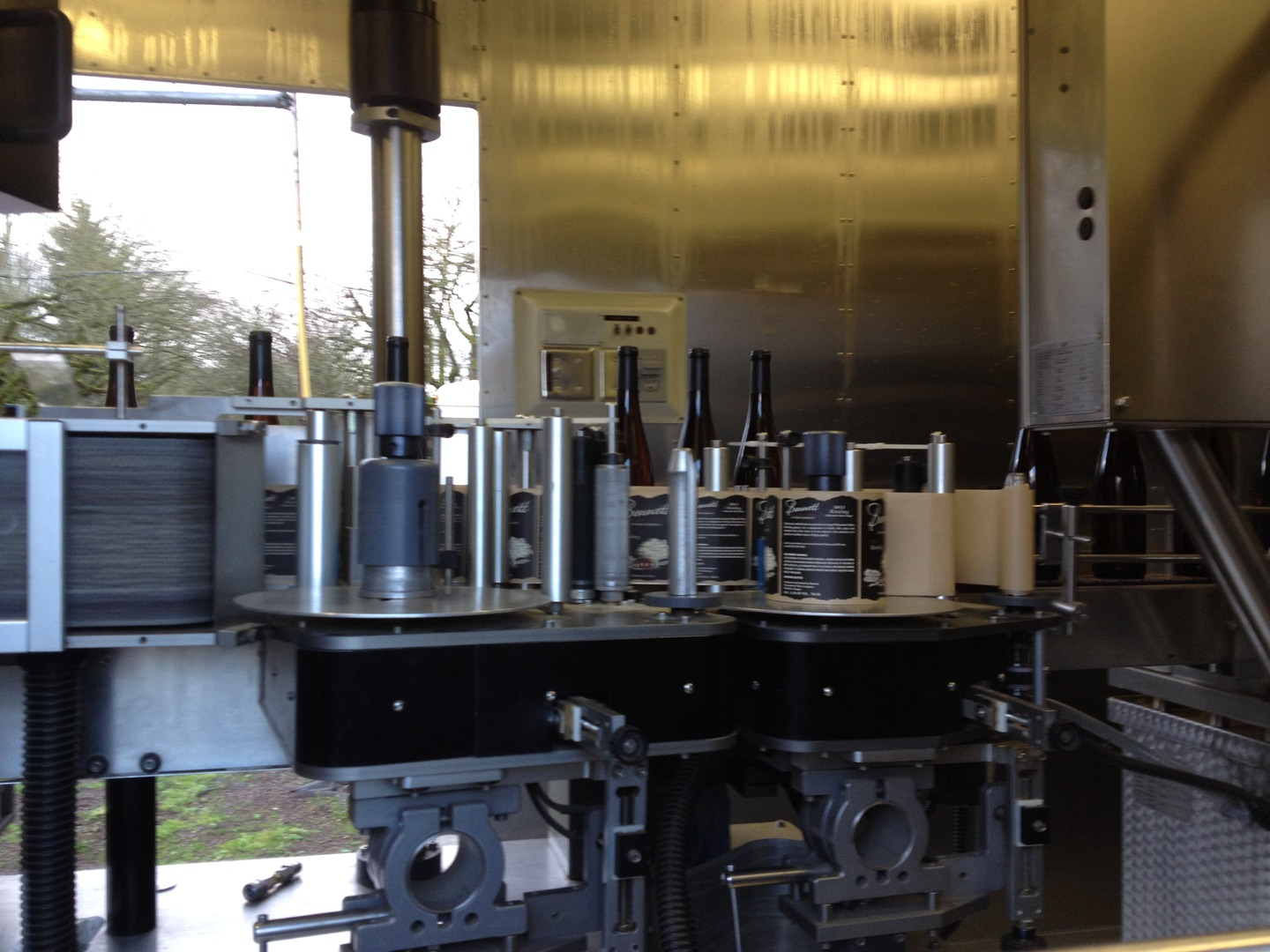 Bottling occurs after the wine has spent just the right amount of time in the barrel