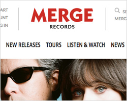 Merge Records website