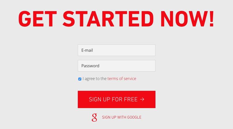 get started form
