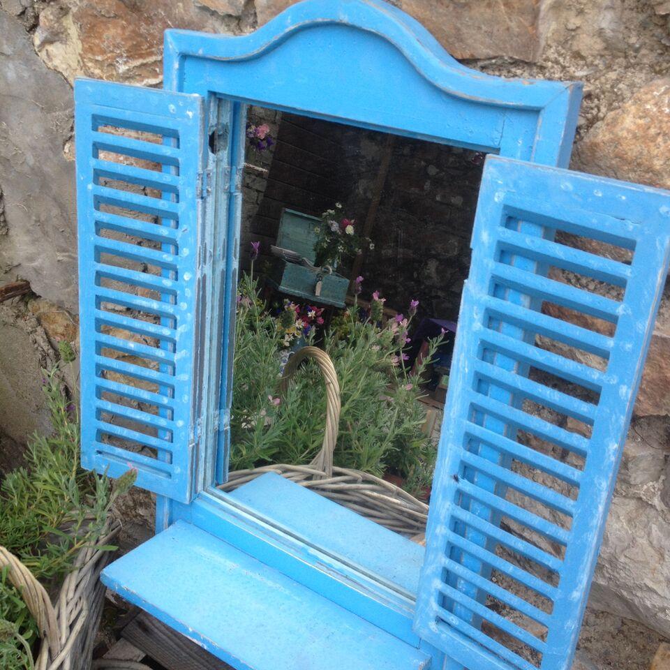 Blue Shutter Mirror