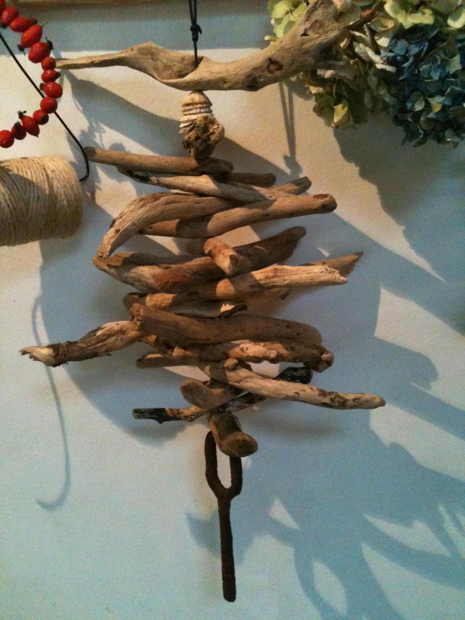 Driftwood hanging sculpture