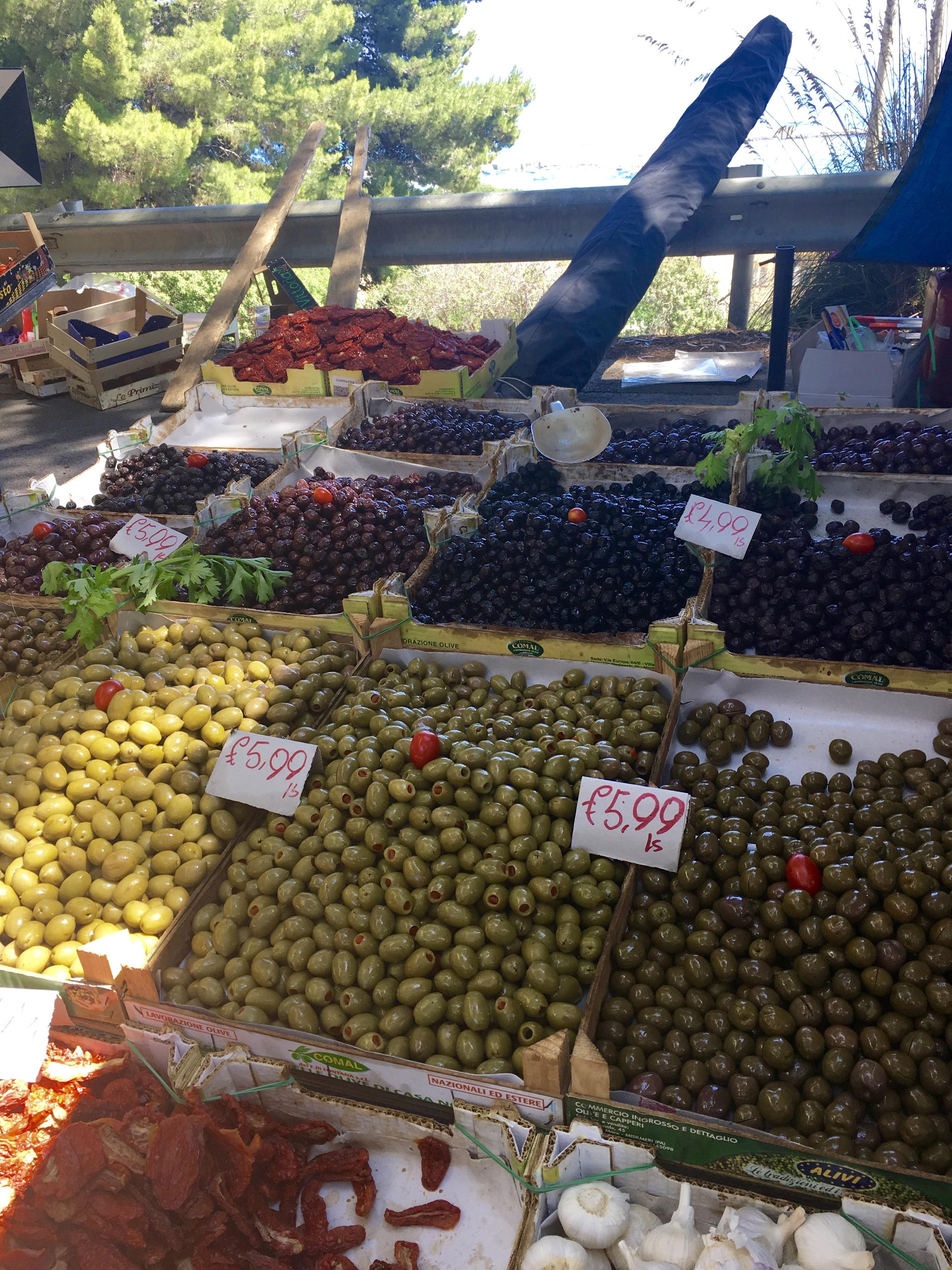 """below-mentioned """"vat of olives"""""""