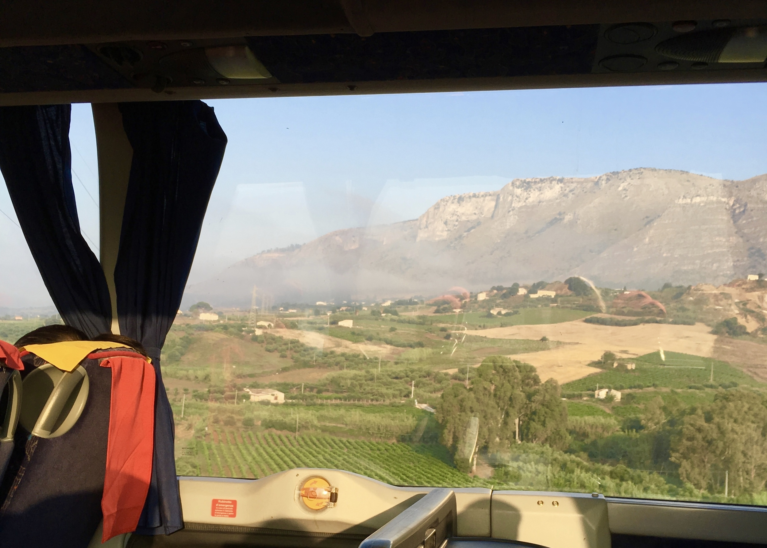 bus ride from Palermo to Trapani