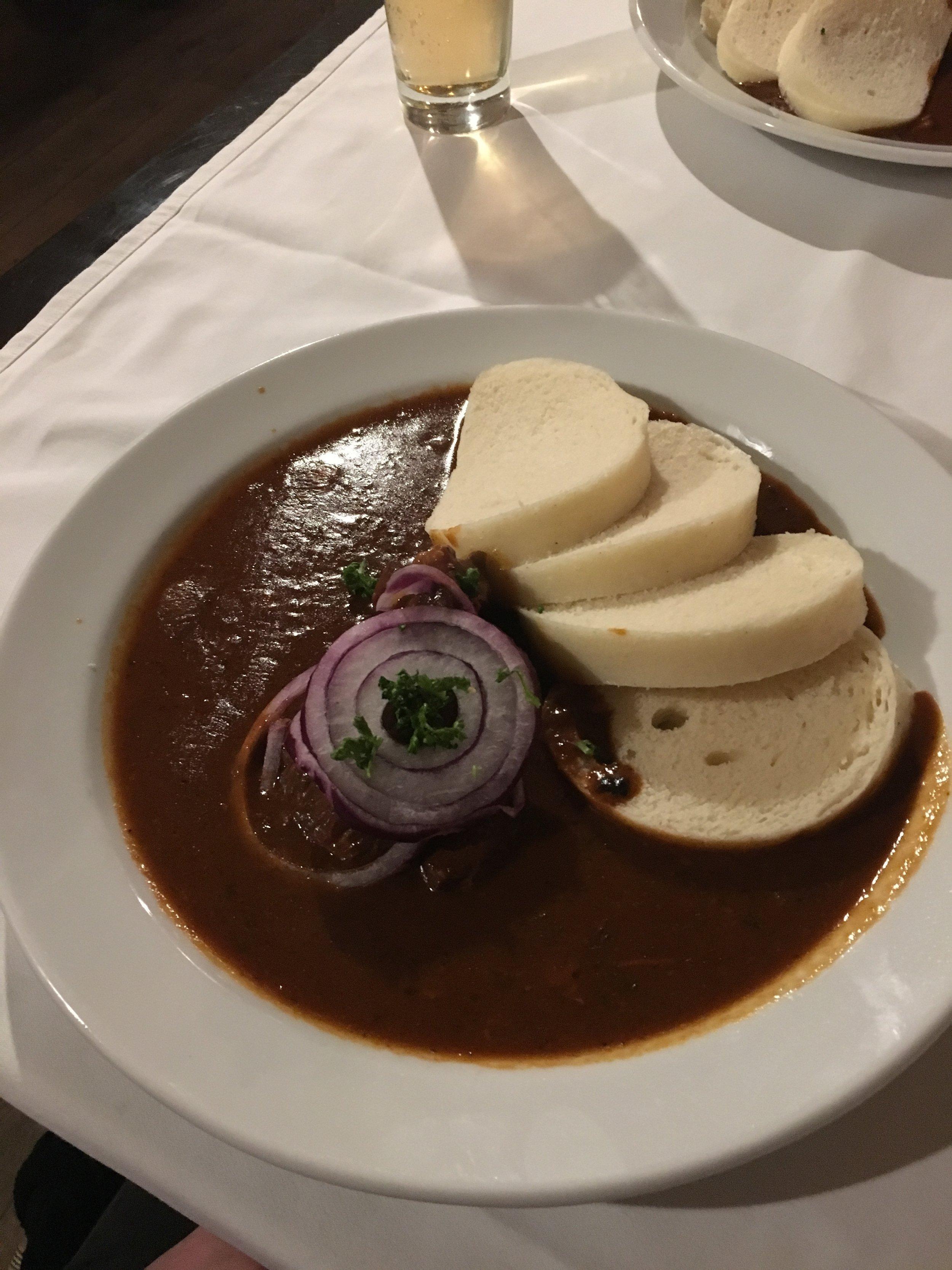 goulash -- traditional Prague style
