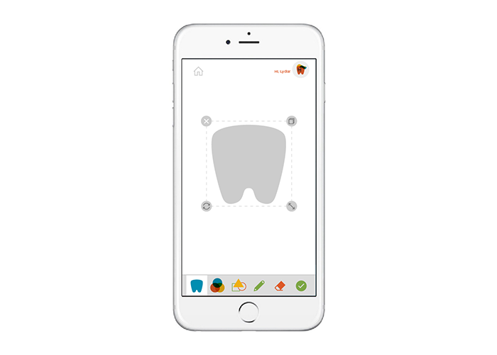 3 Start by selecting the toothie button from the utility menu to create a toothie.