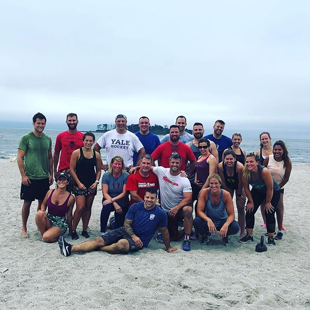 This fine looking group crushed a beach WOD this AM... #crossfit #beachwod #kettlebells #hybridwod @hybridwods