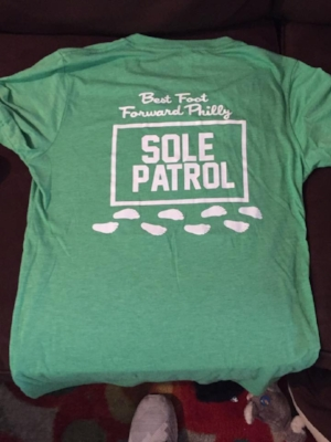 BFFP T-shirt back (green model)