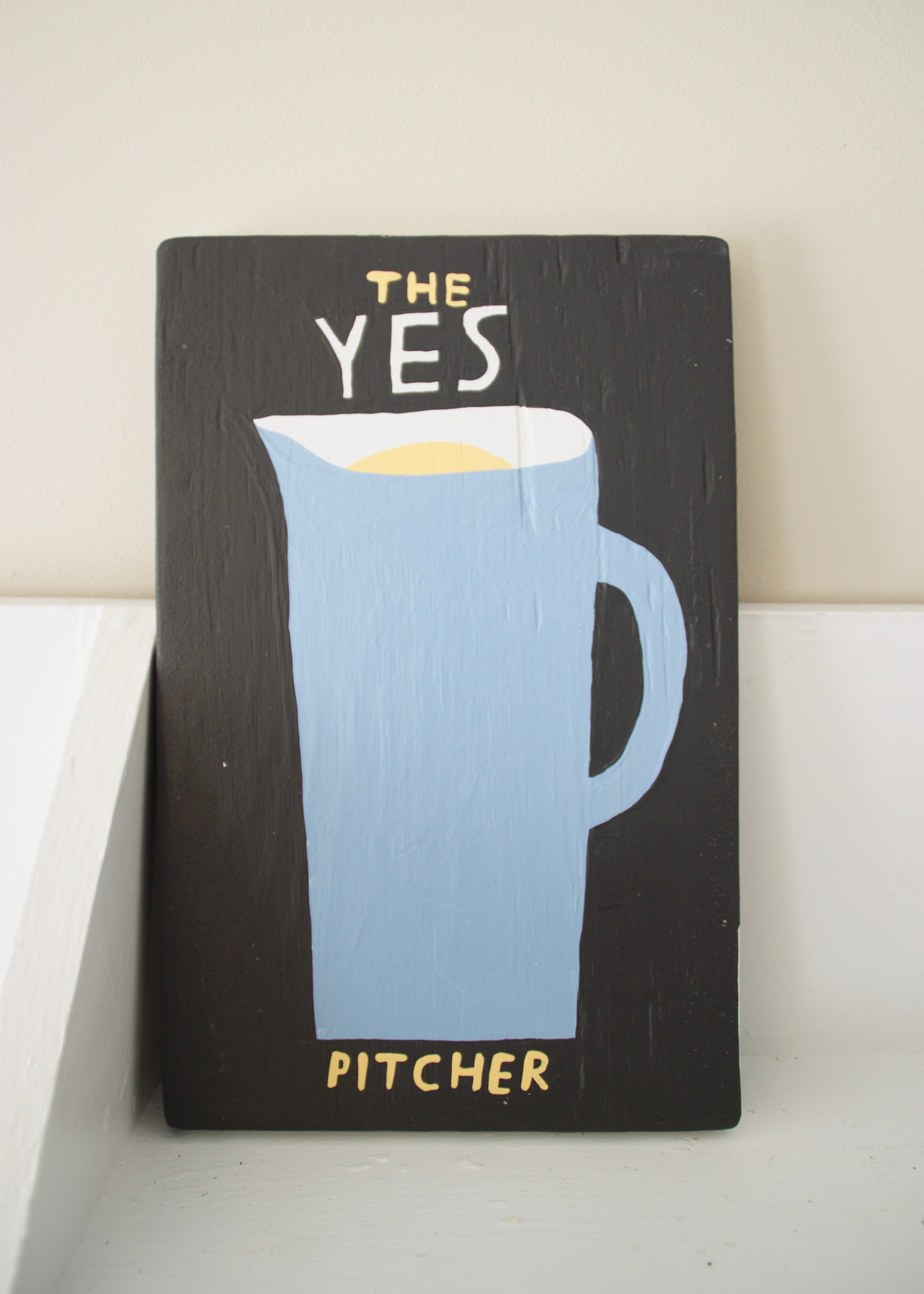 A Book Called A Pitcher Of Yes , 2016           acrylic, wood |11 x 17 in.