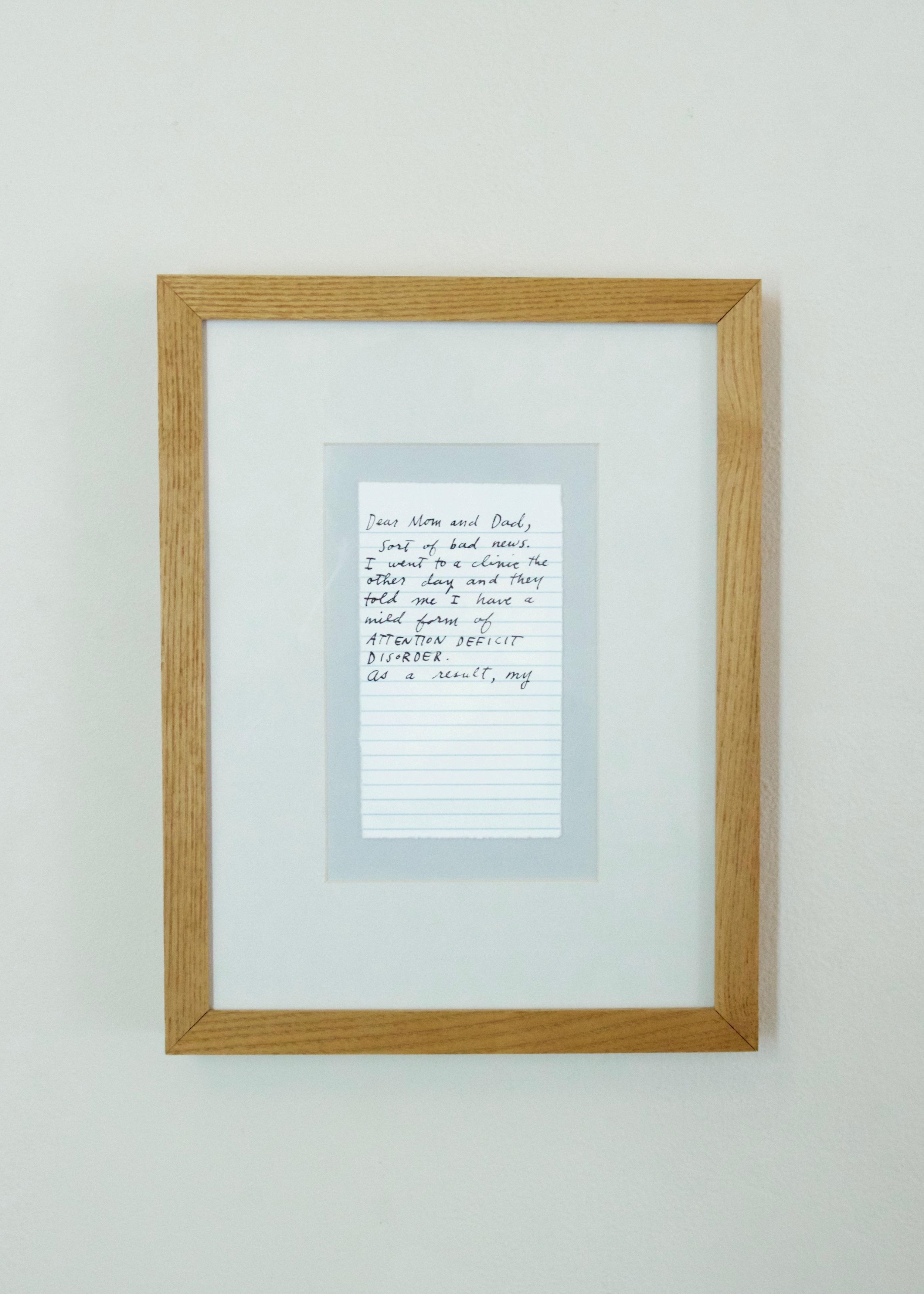 Oli Watt, Letter Never Sent  , 1999          screenprint | 13 x 10  in.