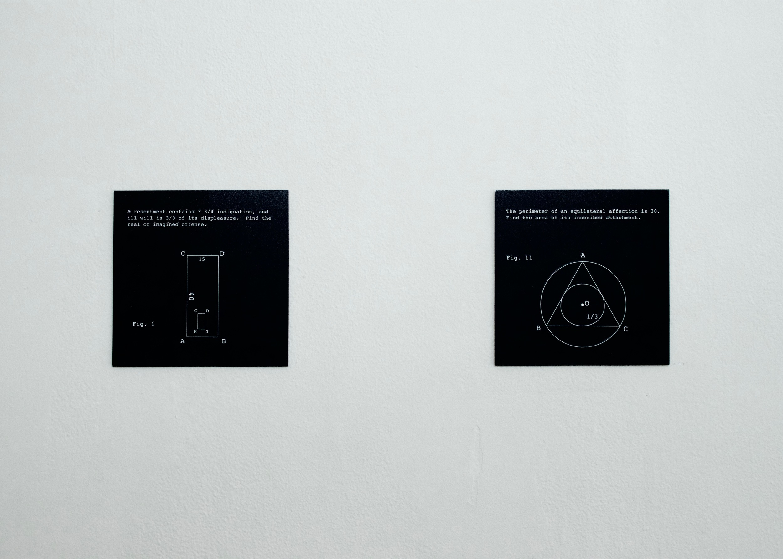 Stephanie Brooks, Untitled (Geometry 1-10) (detail) , 2012          etched zinc, enamel | 6 x 6   in. (each)