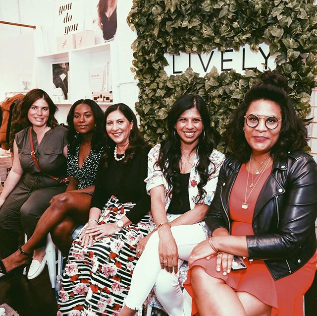Loved chatting diversity, confidence, and creating a world where we all can belong and truly be ourselves! 💕 Thanks to @wearlively for jumpstarting this conversation, the talented and intelligent women I sat beside on this panel @bonjourclem @allwomxnproject @deepika.vyas @avyaskincare @the_michellegrant @missjulee @essence @evnamedia , and all of you wonderful people who came and supported. 📷: @karllunz